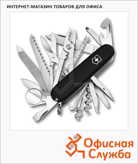 Нож офицерский 91мм Victorinox Swiss Champ 9мм, 33 функции, черный
