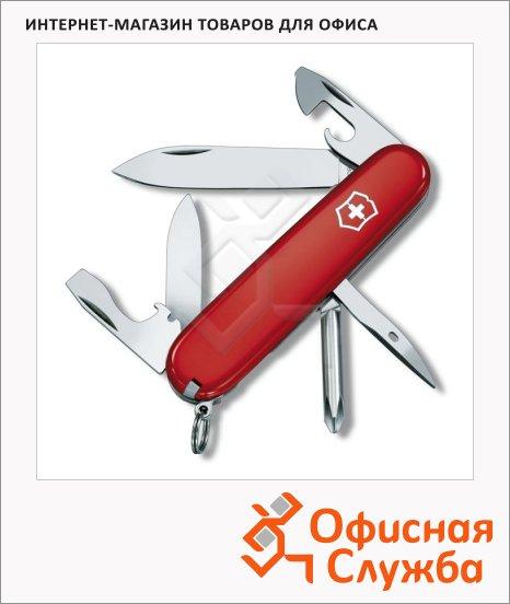 Нож офицерский 91мм Victorinox Tinker 1.4603, 12 функций, 2 уровня, красный