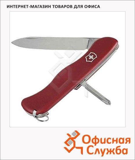 Нож солдатский 111мм Victorinox Cowboy 0.8923, 5 функций, 1 уровень, красный, с фиксатором