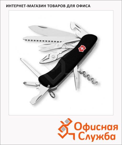 фото: Нож солдатский 111мм Victorinox Hercules 0.9043.3 18 функций, 5 уровней, с фиксатором, черный