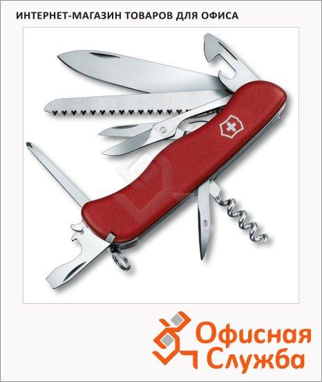 фото: Нож солдатский 111мм Victorinox Outrider 0.9023 14 функций, 4 уровня, с фиксатором, красный