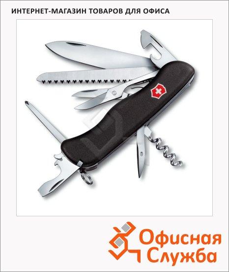 фото: Нож солдатский 111мм Victorinox Outrider 0.9023.3 14 функций, 4 уровня, с фиксатором, черный