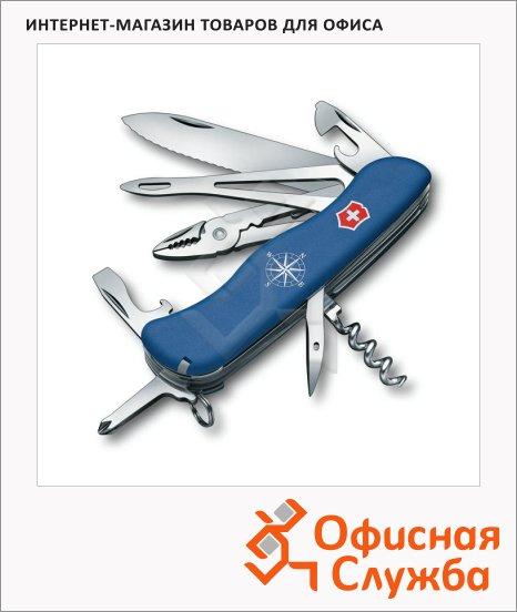 фото: Нож солдатский 111мм Victorinox Skipper 0.9093.2W 17 функций, 4 уровня, синий, с фиксатором