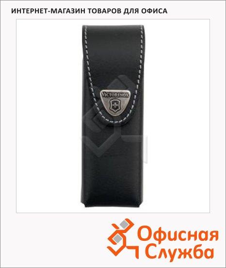 фото: Чехол Victorinox 4.0524.3B1 для ножа 111мм до 6 уровней, черный, кожаный