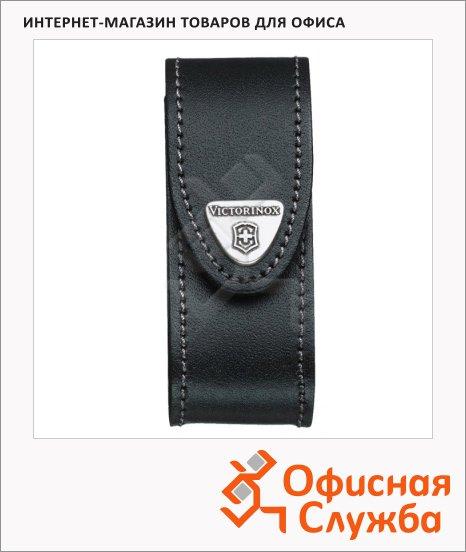 Чехол Victorinox Velkro 4.0520.3B1, для ножа 91 мм 2-4 уровней, черный, кожаный