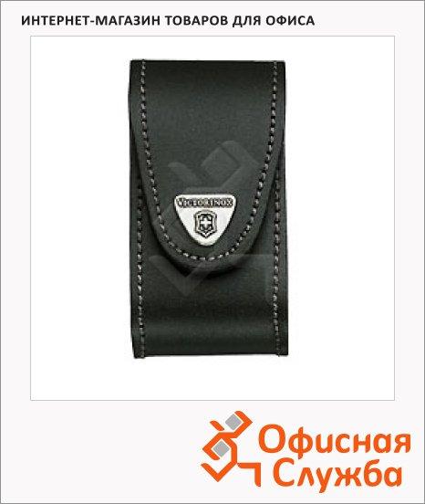 Чехол Victorinox 4.0521.3B1, для ножа 91 мм 5-8 уровней, черный, кожаный