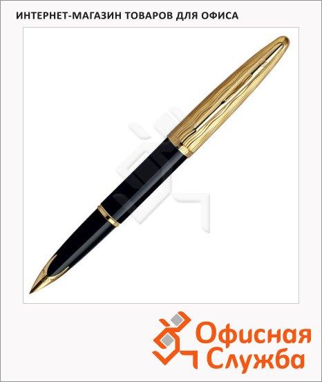 фото: Ручка перьевая Waterman Carene Essential Black GT F черный с золотом корпус, S0909750