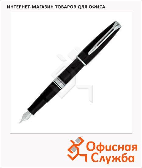 Ручка перьевая Waterman Charleston F, черный с серебром корпус