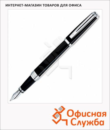 фото: Ручка перьевая Waterman Exception Night & Day PlatinumST F черный с серебром корпус, S0709140