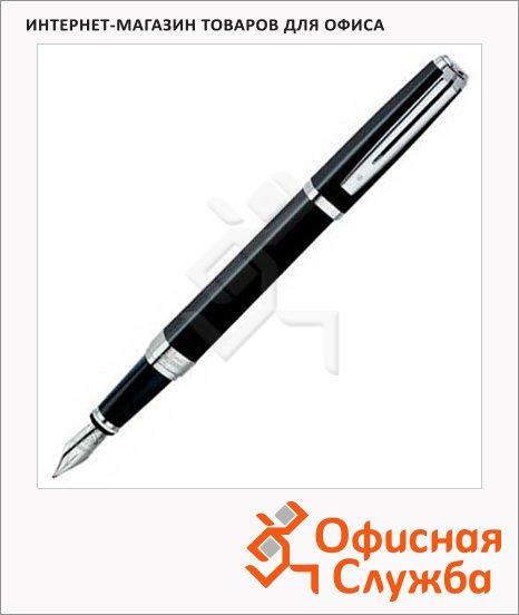 Ручка перьевая Waterman Exception Night М, черный с серебром корпус
