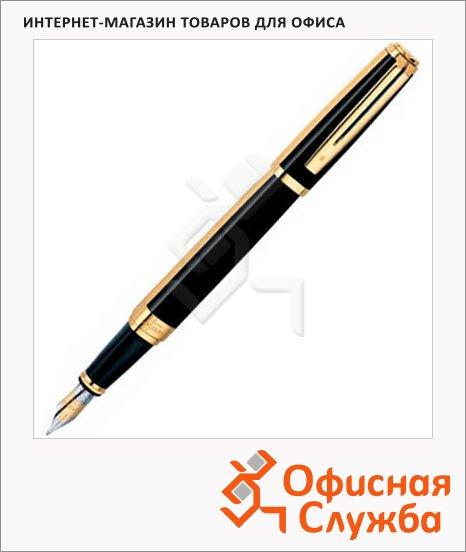 Ручка перьевая Waterman Exception Night М, черный с золотом корпус