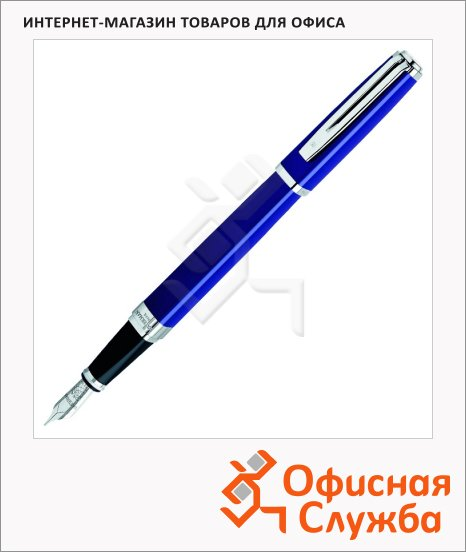 фото: Ручка перьевая Waterman Exception Slim F синий корпус, S0637090