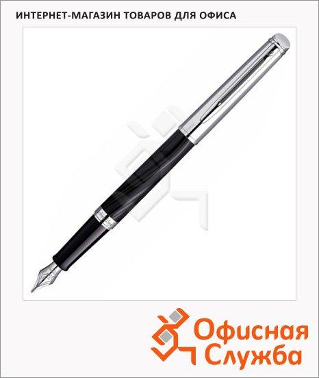 Ручка перьевая Waterman Hemisphere Deluxe F, черный корпус, отделка  Silk CT