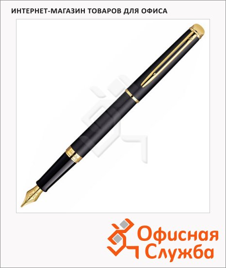 фото: Ручка перьевая Waterman Hemisphere 2010 Matt Black GТ 0.8мм черно-золотистый корпус, S0920710
