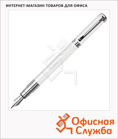 Ручка перьевая Waterman Perspective, F, белый/серебристый корпус