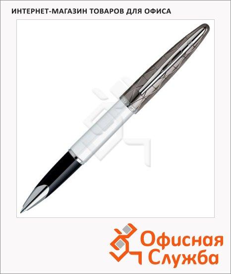 Ручка-роллер Waterman Carene F, черная, белый корпус