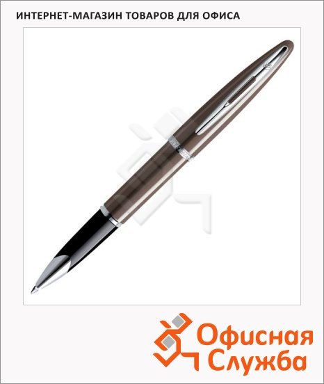 фото: Ручка-роллер Waterman Carene Frosty Brown Lacquer ST F коричневый корпус, S0839730