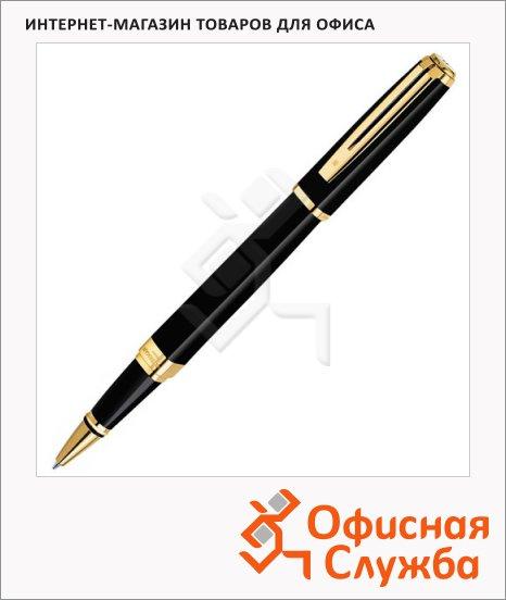 Ручка-роллер Waterman F, черная, черный корпус
