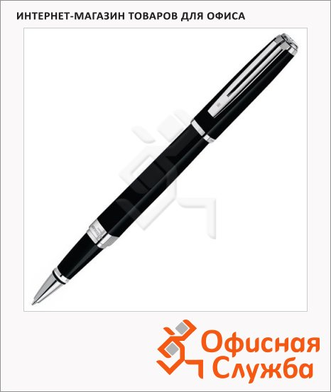 Ручка-роллер Waterman Exception Night&Day F, латунь посеребрянная корпус