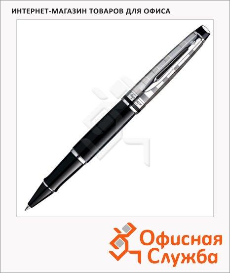 Ручка-роллер Waterman М, черная, черный корпус
