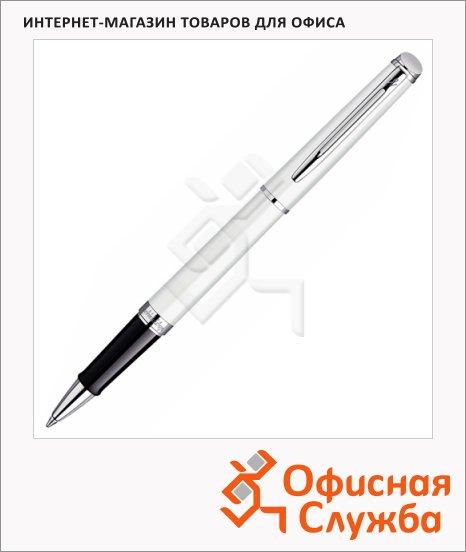 Ручка-роллер Waterman Hemisphere F, черная, белый корпус