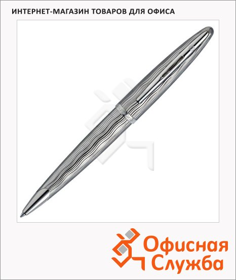 фото: Ручка шариковая Waterman Carene Essential Silver ST М серебристый корпус, S0909890