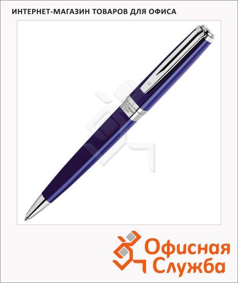 Ручка шариковая Waterman Exception М, синяя, синий с серебром корпус