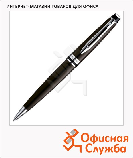 фото: Ручка шариковая Waterman Expert Black Lacquer CT М коричневый корпус, S0952280