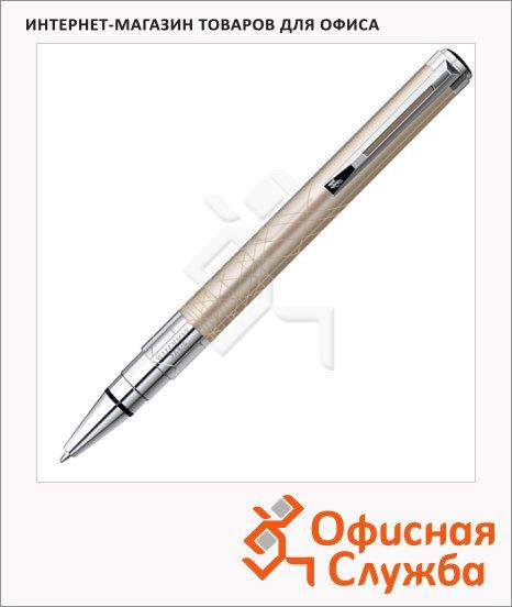 Ручка шариковая Waterman М, синяя, золотой корпус