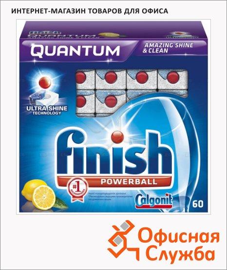Таблетки для ПММ Finish Quantum 60шт, лимон