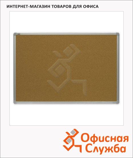 фото: Доска пробковая 2X3 TCA 96 100х200см коричневая, алюминиевая рама