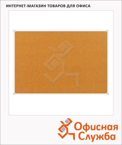фото: Доска пробковая 2X3 TCA 96 60х90см коричневая, алюминиевая рама
