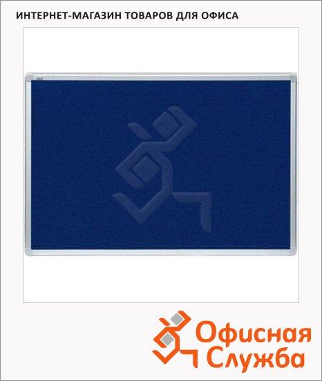 фото: Доска текстильная 2X3 TTA 96BL 180x120см синяя, алюминиевая рама