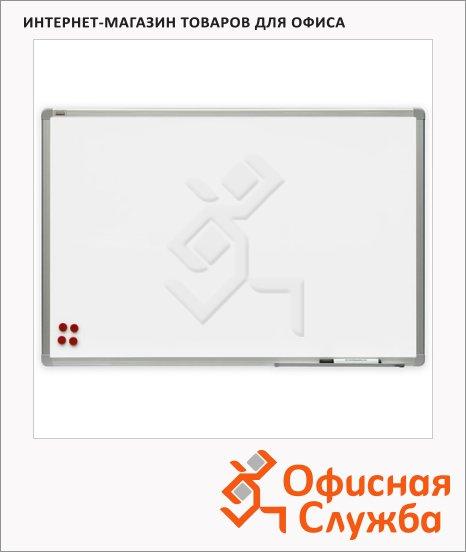 Доска магнитная маркерная 2x3 TSA 129 120х240см, белая, лаковая, алюминиевая рама