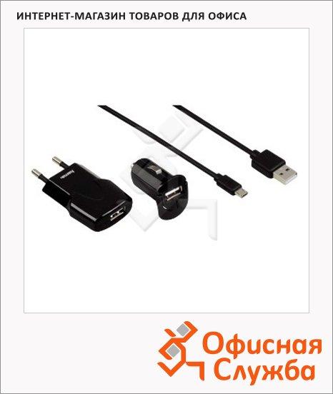 фото: Зарядное устройство Picco USB/micro USB, для micro USB-устройств, черный
