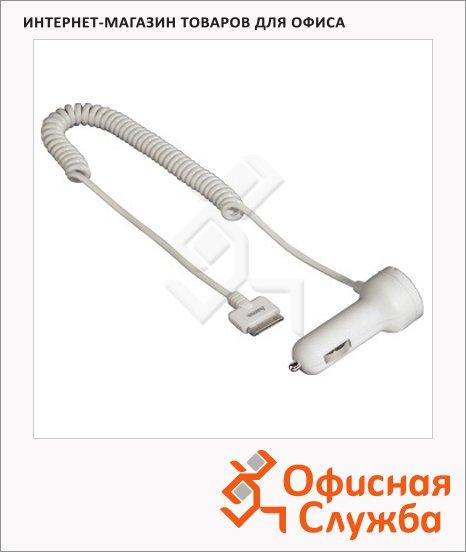 Зарядное устройство автомобильное Hama для iPhone/iPod, 12/24В, белое, H-115097