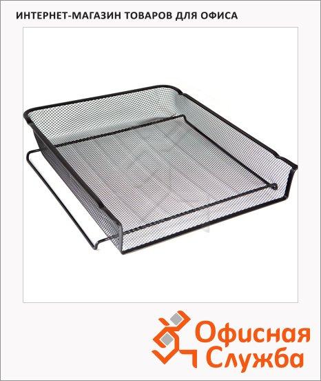 фото: Лоток горизонтальный для бумаг Бюрократ А4 черный, BLD01-118-8