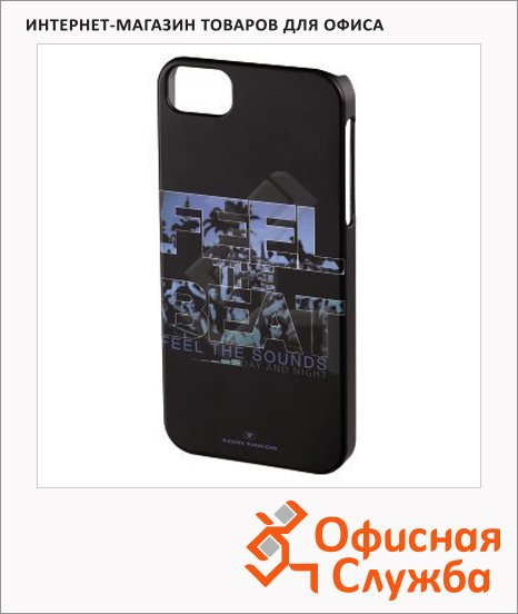 фото: Чехол для Apple iPhone 5/5S Feel the beat черный пластиковый