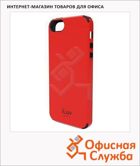 Чехол для Apple iPhone 5/5S Iluv Regatta красный, пластиковый
