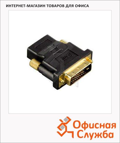 фото: Адаптер Hama HDMI-DVI-D 24+1-pin (f-m) черный H-34035