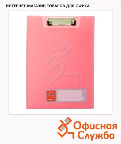 Клипборды с крышкой Бюрократ Crystal красная, А4, CR602RED