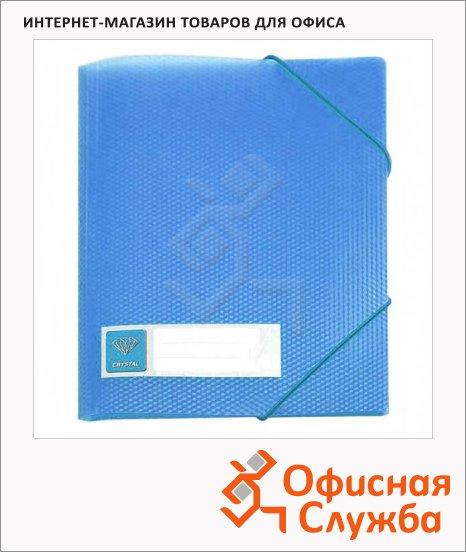 фото: Пластиковая папка на резинке Crystal голубая A4, до 150 листов, CR510blue