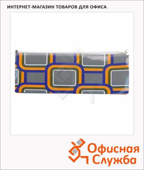 Пластиковая папка на молнии Бюрократ Fusion ассорти, 200мкм, А6, FUZA6