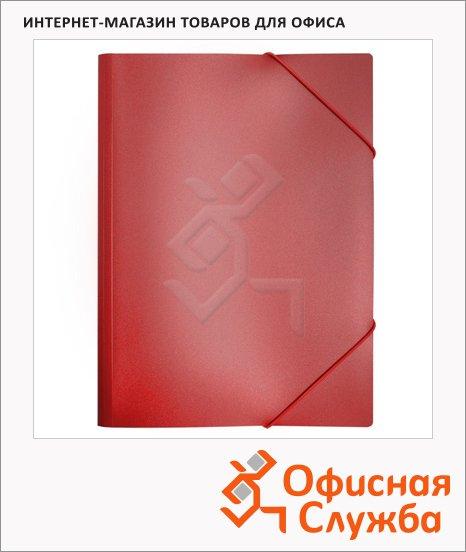 фото: Пластиковая папка на резинке Бюрократ красная A4, 15мм, PR04red
