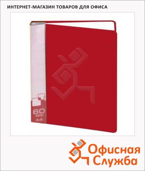 Папка файловая Бюрократ красная, А4, на 60 файлов, BPV60RED