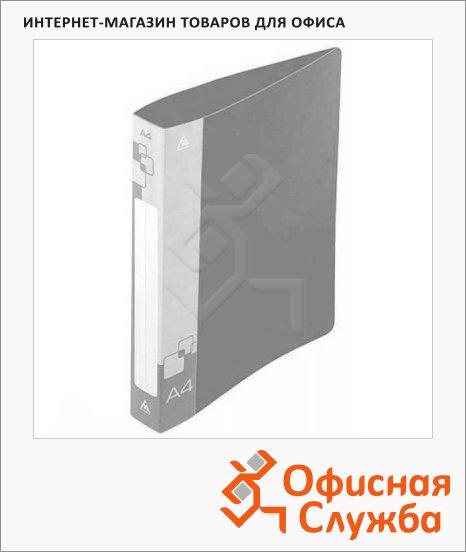 Папка пластиковая с зажимом Бюрократ серая, А4, 16мм, PZ07CGREY