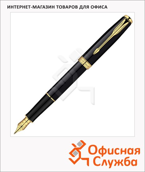 фото: Ручка перьевая Parker Sonnet F530 F черный/позолоченный корпус, S0833860