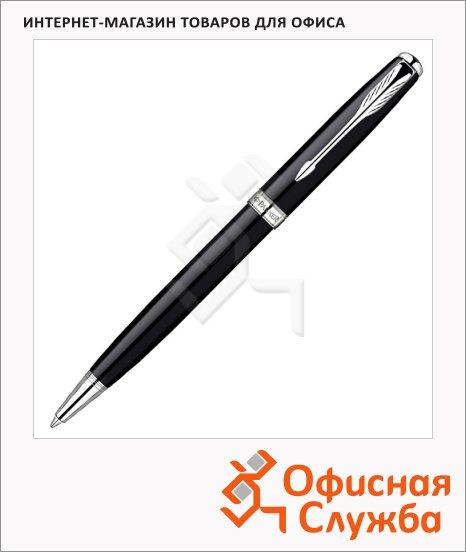 Ручка шариковая Parker М, черная, черный/серебристый корпус