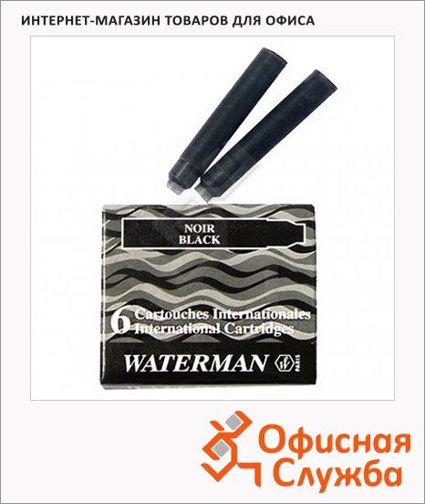фото: Картридж для перьевой ручки Waterman S0110950 черный 6шт