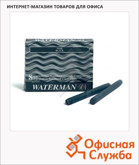 Картридж для перьевой ручки Waterman №5 S0110850, черный